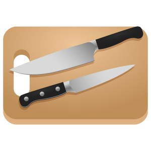 Knives and Cutting Board
