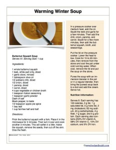 Pressure Cooker Butternut Soup