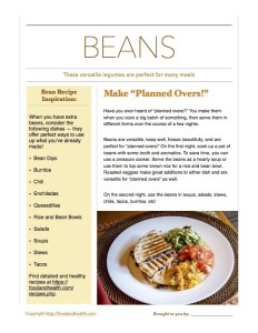 Cook Once Serve Twice Beans