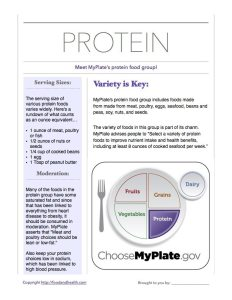 MyPlate Protein Overview