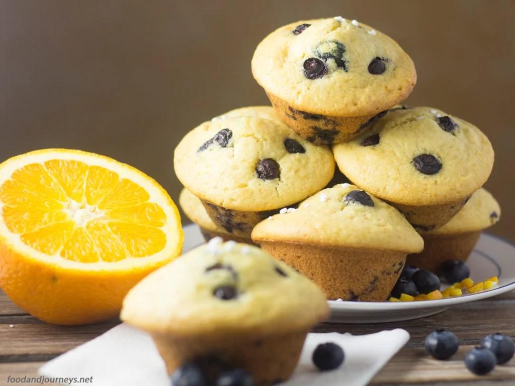 Orange Blueberry Muffins  foodandjourneys.net