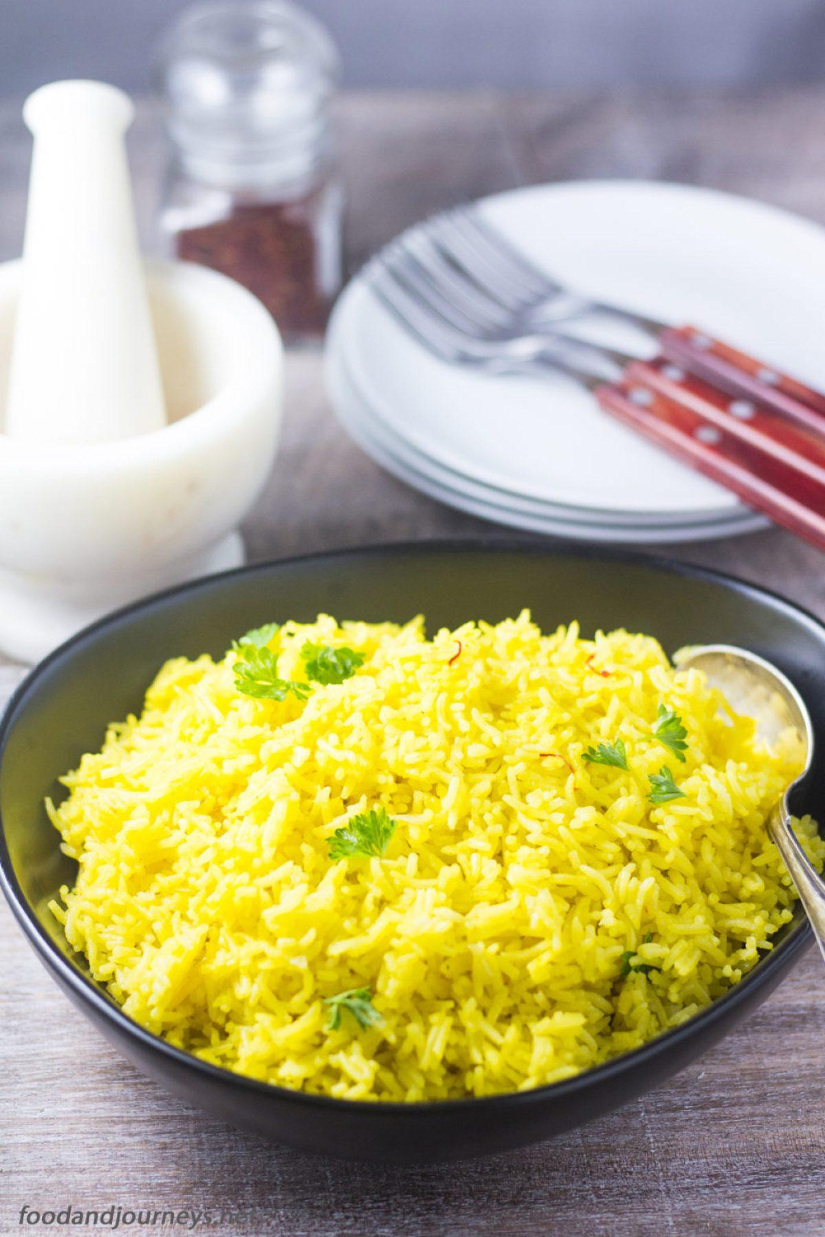 Saffron Rice|foodandjourneys.net