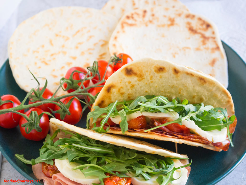 Piadina food and journeys for Avventura journeys in italian cuisine