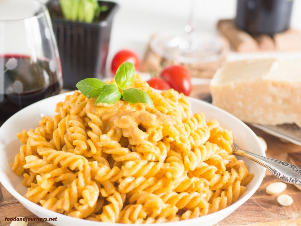 Fusilli with Pesto Trapanese|foodandjourneys.net