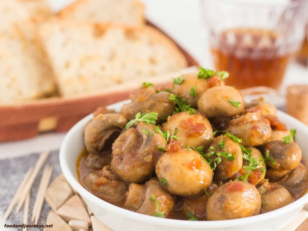 Sherry Marinated Mushrooms|foodandjourneys.net