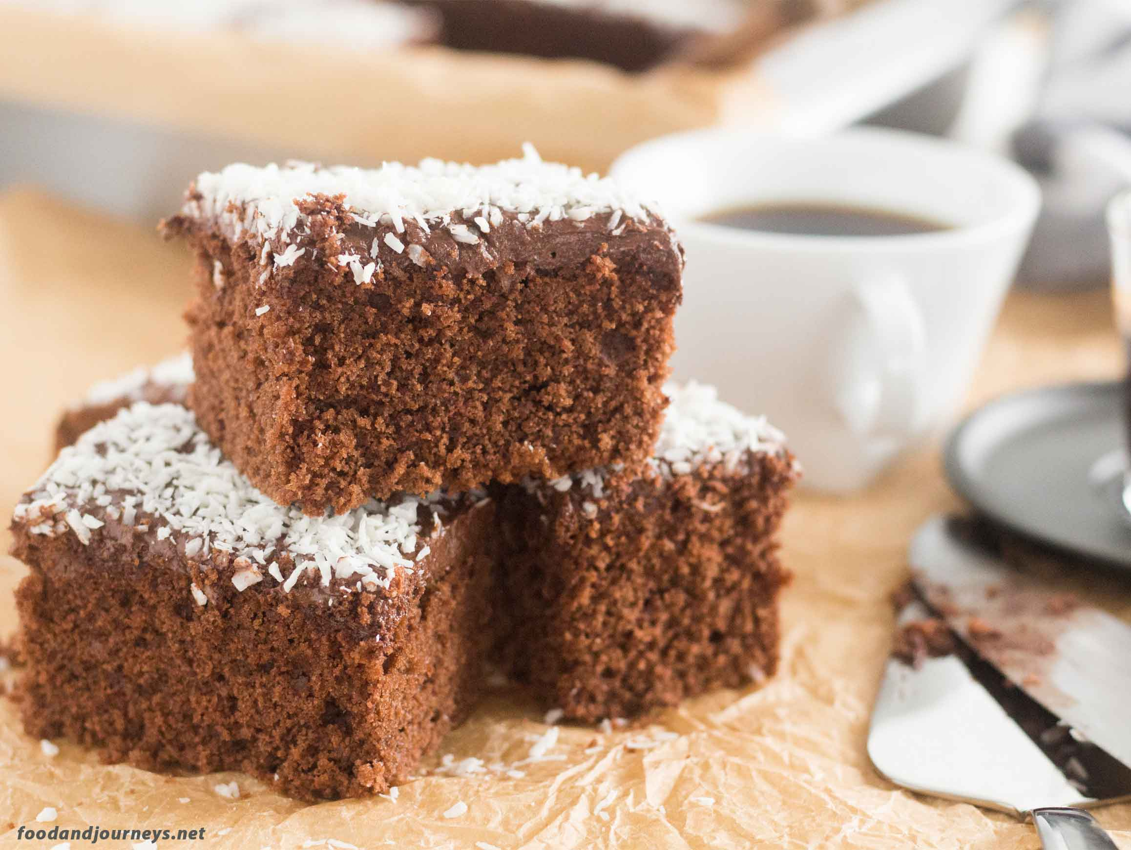 Swedish Chocolate Coffee Squares MPIC|foodandjourneys.net