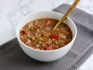Lentil and Brown Rice Soup - Food & Nutrition Magazine - Stone Soup