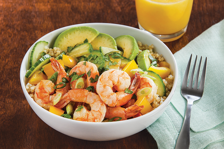 Orange Shrimp Quinoa Bowl