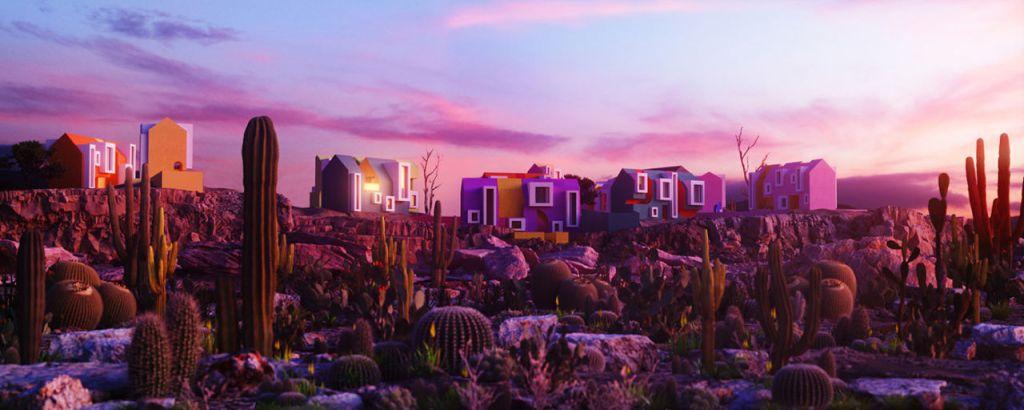 Sonora Art Village: El colorido pueblo utópico inspirado en el desierto de Sonora