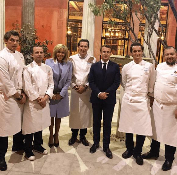 Christophe Bacquié fait la cuisine pour les couples Présidentiels Français et Chinois