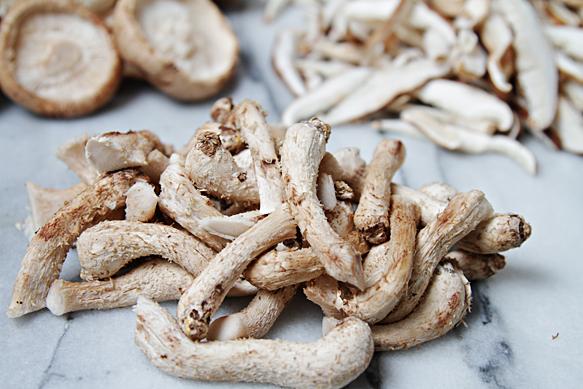 Shiitake mushroom stems