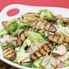 Boston lettuce and radish salad with grilled fingerling potatoes and lemon-garlic vinaigrette