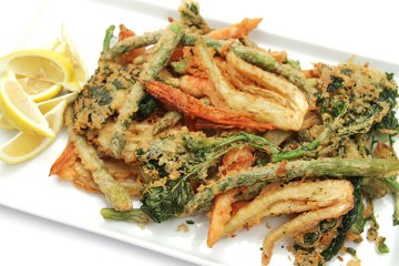 Spring vegetable fritto misto with beer batter