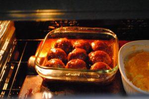 cooking ham balls