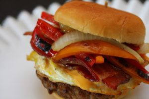 Cristen Clark pork breakfast sandwich
