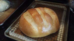 baked farmhouse bread