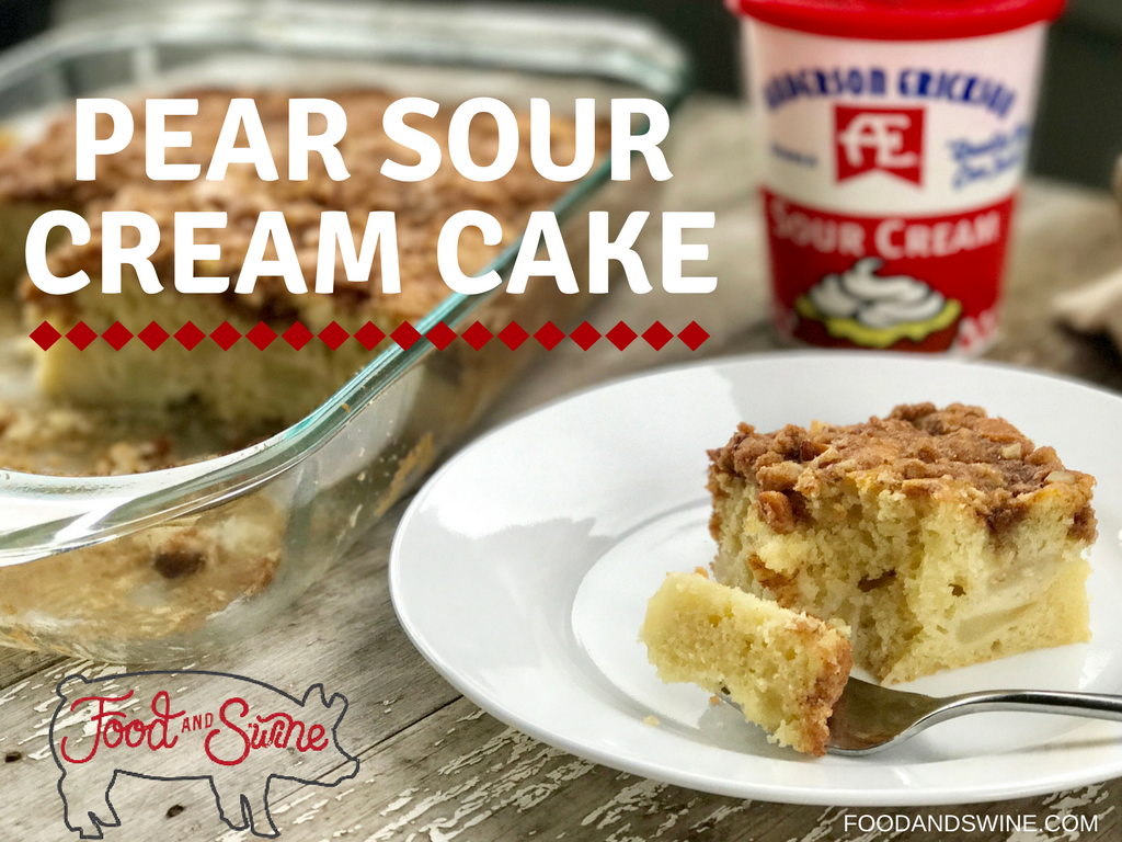 Pear Sour Cream Cake