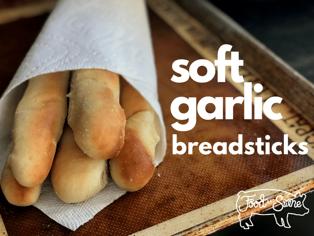 Soft Garlic Breadsticks