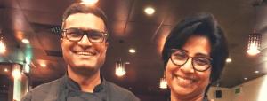 Daana hosts Sunita and Sanjay