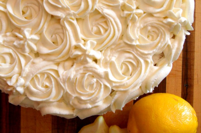 Lemon Buttermilk Rosette Cake Recipe