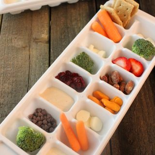 "Whip out the ice cube trays and make your kids a ""snack lunch""! Fun and healthy"