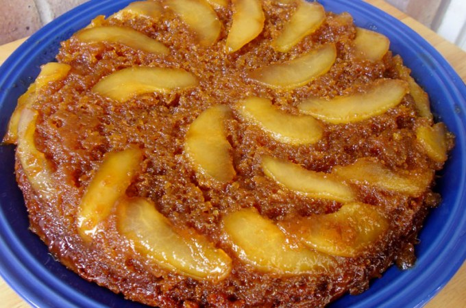 Pear Upside-Down Cake Recipe