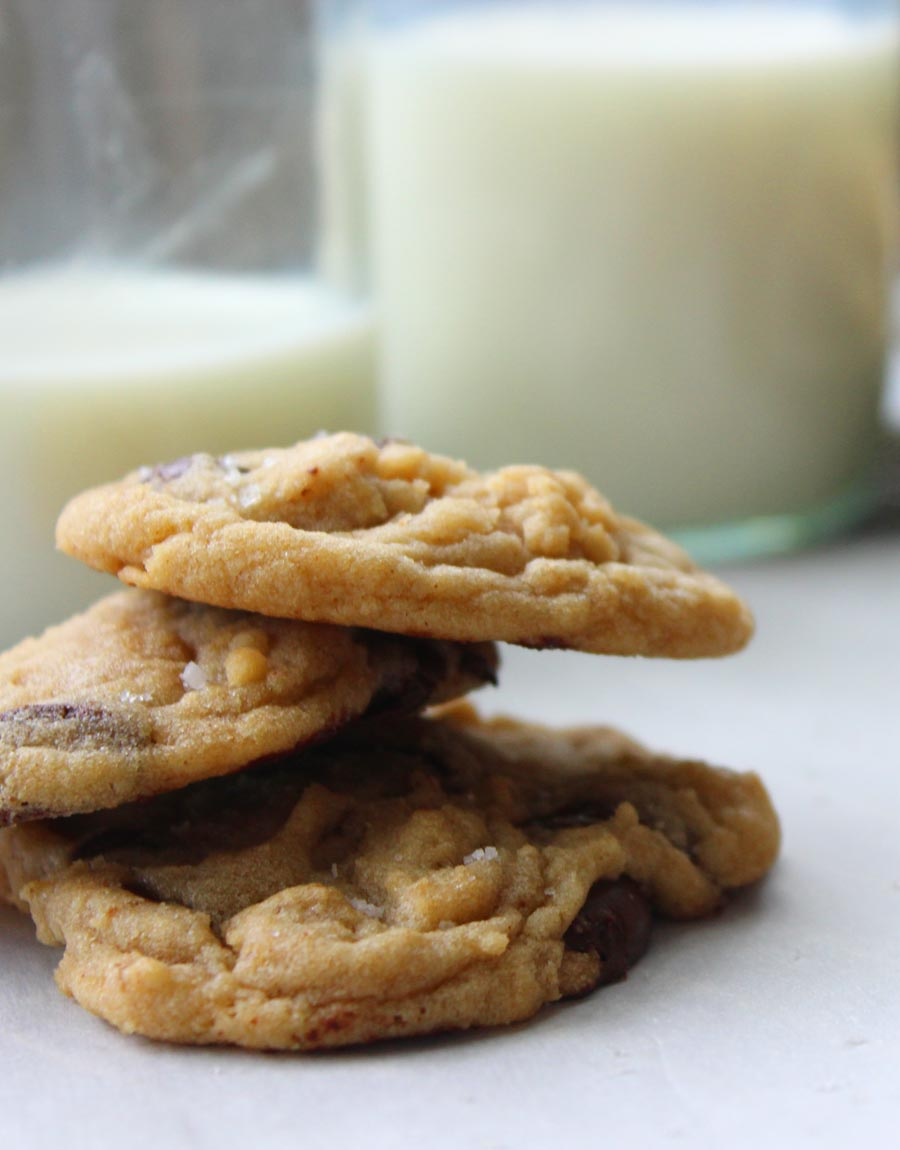 Chewy Browned Butter Chocolate Chip Cookies Recipe - someone who told me they don't like cookies devoured these and said they were amazing!
