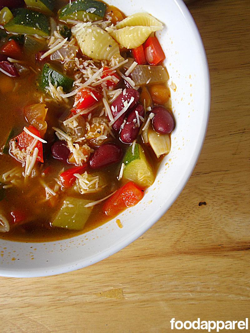 Garden Fresh Minestrone Soup Recipe | Food Apparel