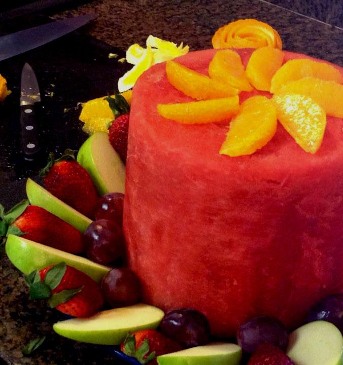 fruit cake orange