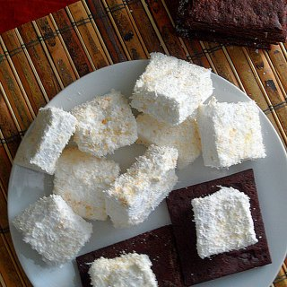 Toasted Coconut Marshmallows with Chocolate Graham Crackers at FoodApparel.com