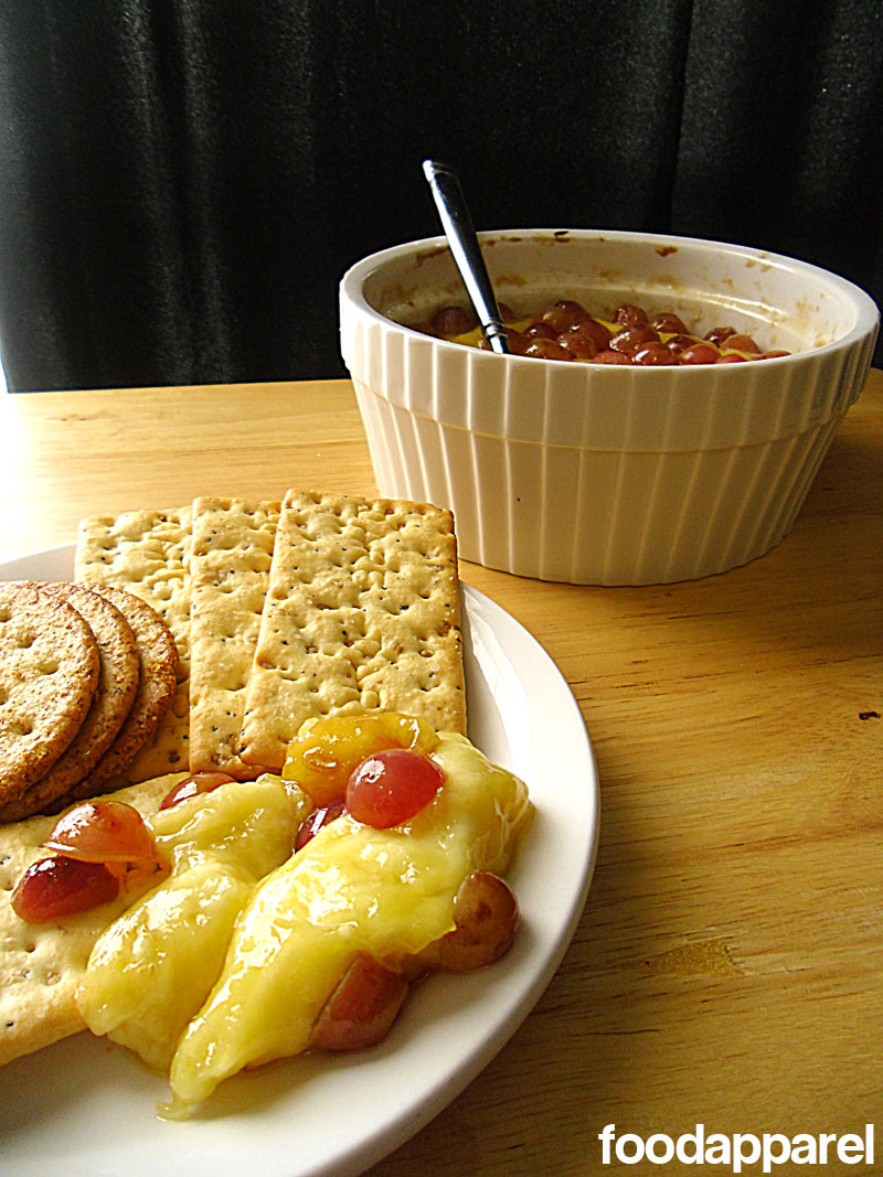 Baked Brie with Brown Sugar and Grapes at FoodApparel.com