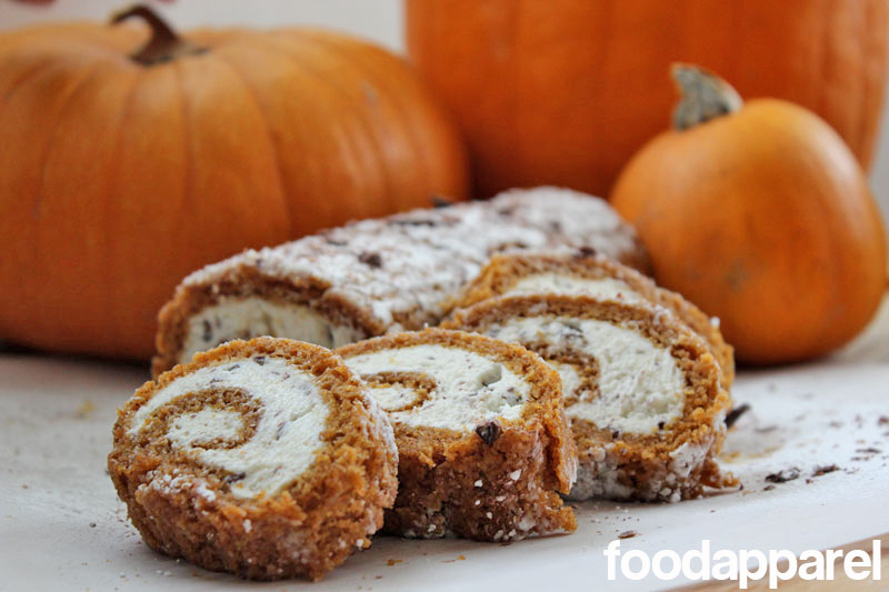 Stracciatella Cream Cheese Pumpkin Roll at FoodApparel.com