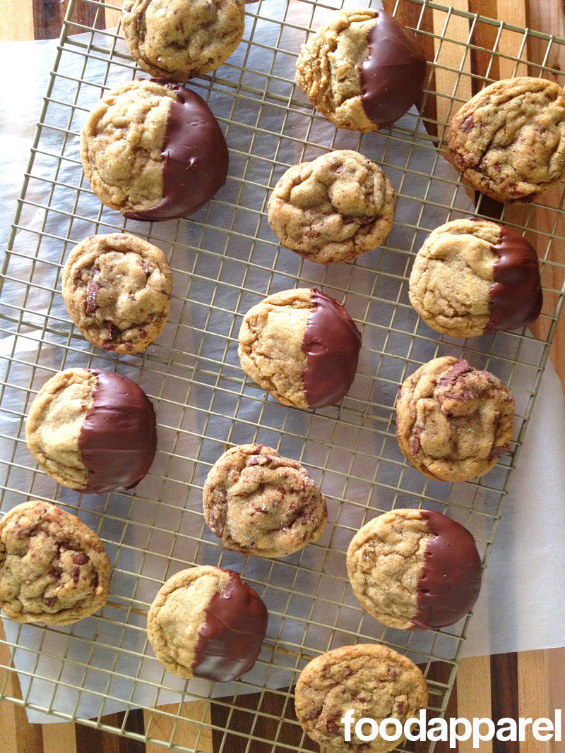 Chocolate Dipped Soft Ginger Cookies at FoodApparel.com