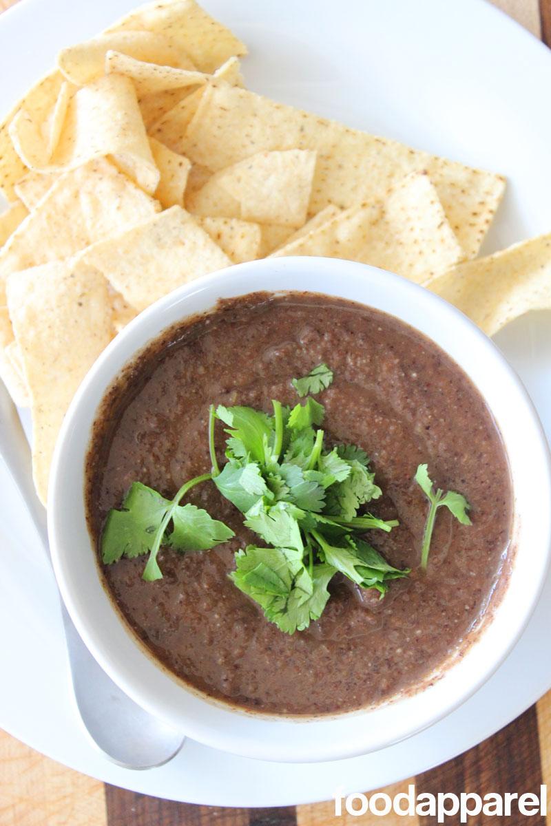 Black Bean Soup at FoodApparel.com