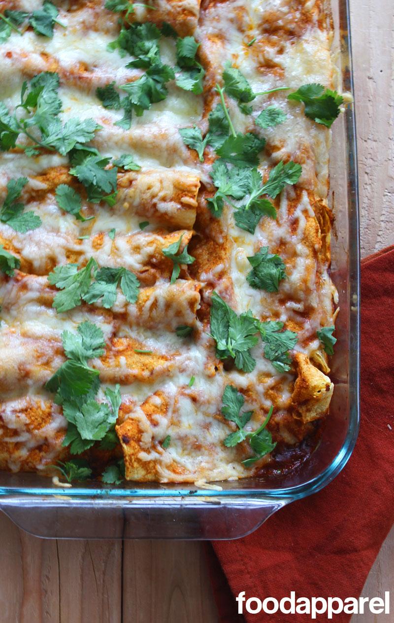 Chicken Enchiladas at FoodApparel.com