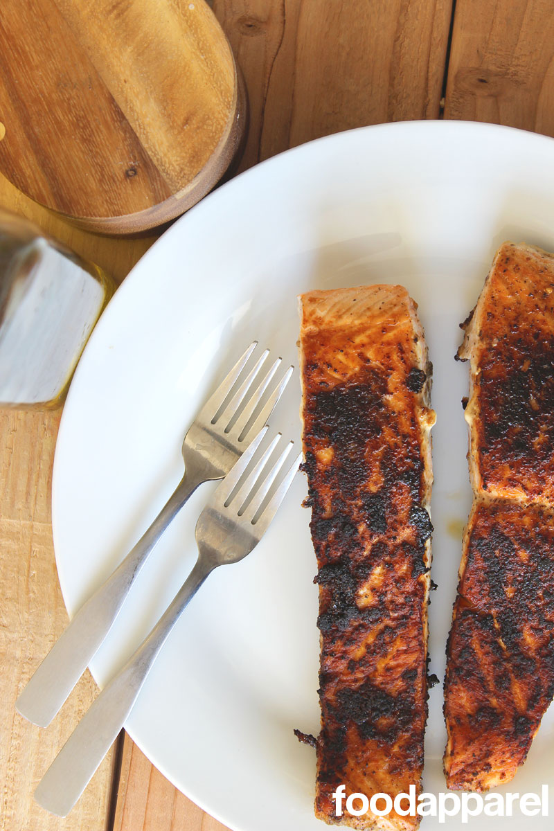 Easy Pan-Seared Dry Rub Salmon at FoodApparel.com