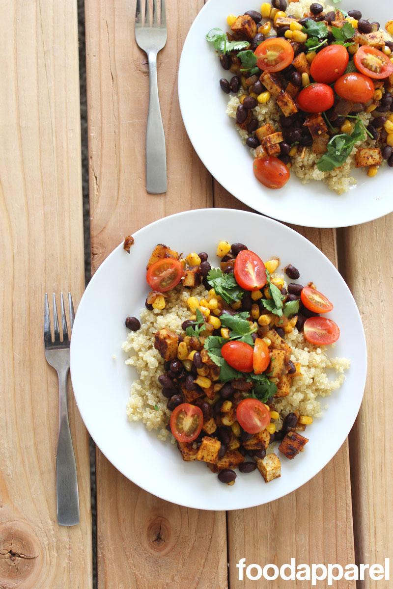 Quinoa Vegan Burrito Bowl at FoodApparel.com
