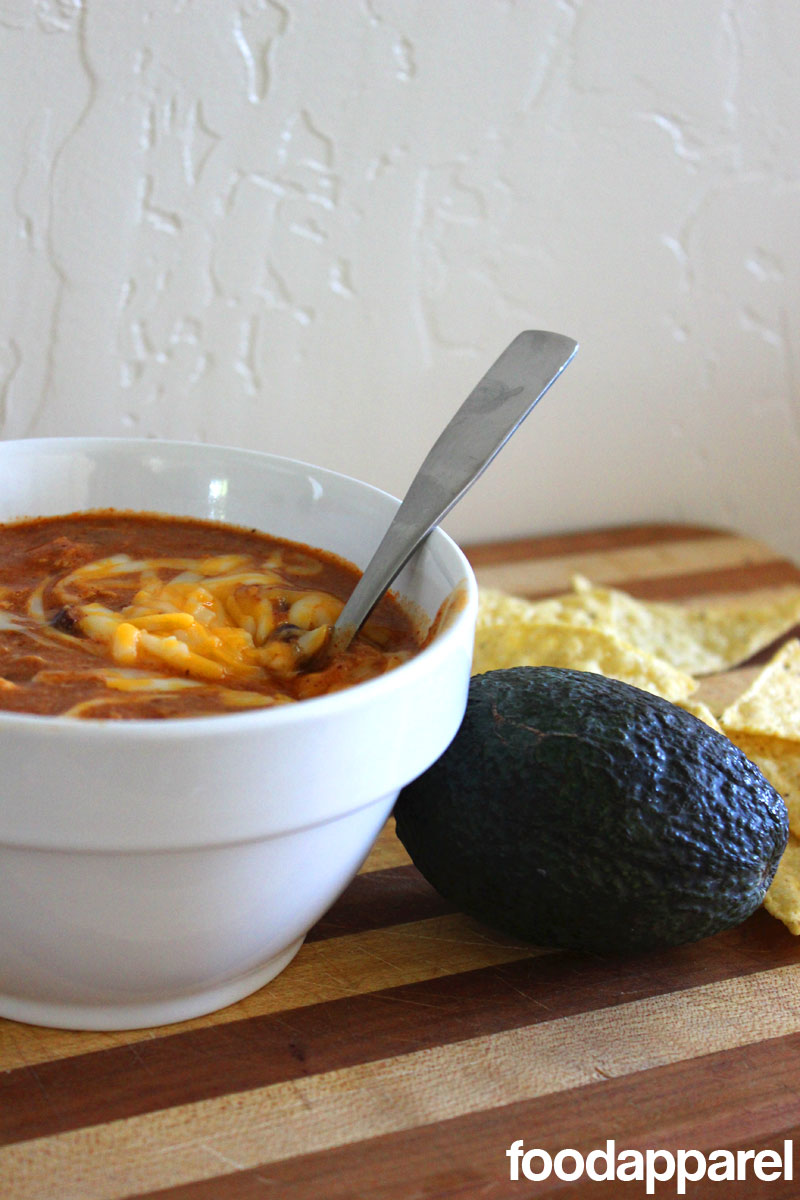 (Zupa's Copycat) Crockpot Chicken Enchilada Soup at FoodApparel.com