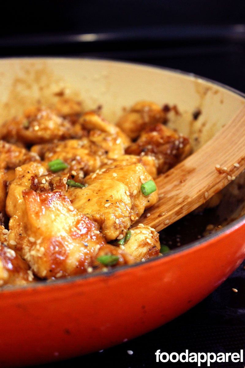 Easy Sesame Chicken with Rice at FoodApparel.com