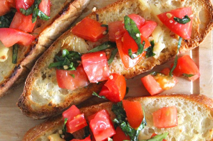 Tomato Basil Bruschetta at FoodApparel.com