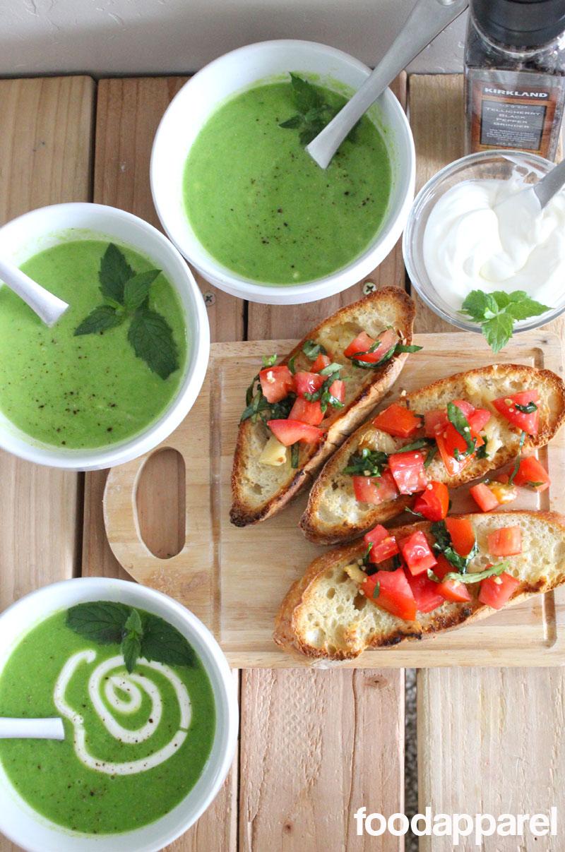 Fresh Minted Pea Soup on FoodApparel.com