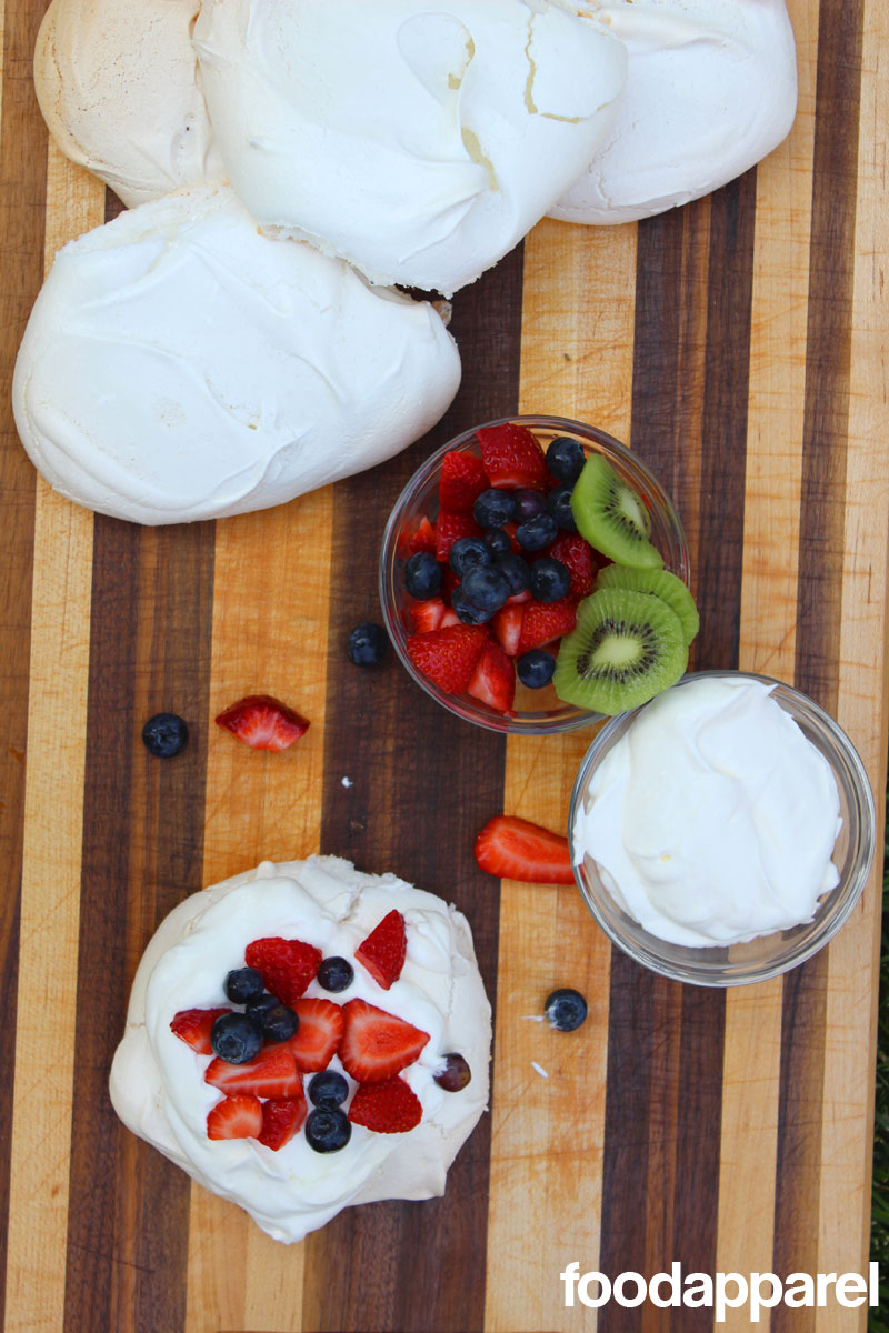 Pavlova with Yogurt Whipped Cream at FoodApparel.com
