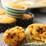 Pumpkin Chocolate Chip Muffins - these are the best ones I've ever made! Super soft and moist