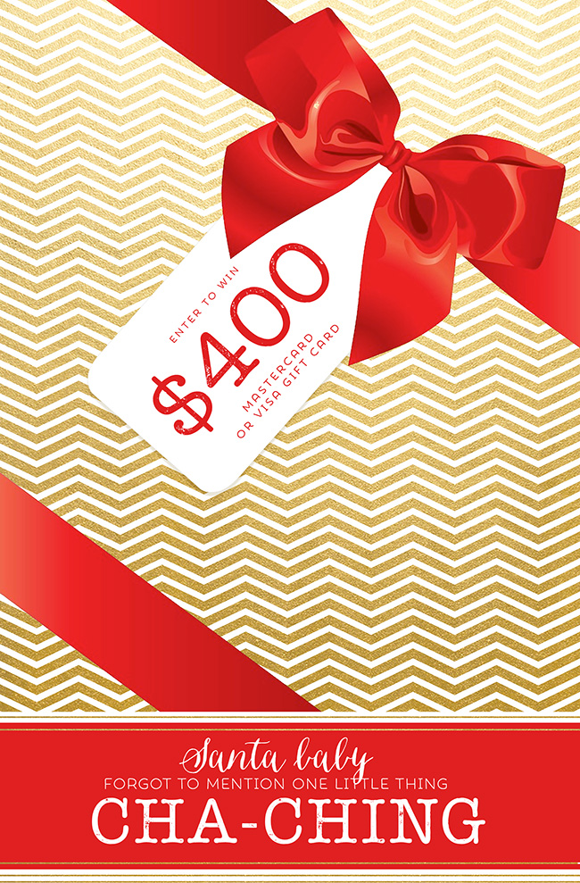 Cash for Christmas $400 Visa or Mastercard Giveaway!   Food Apparel