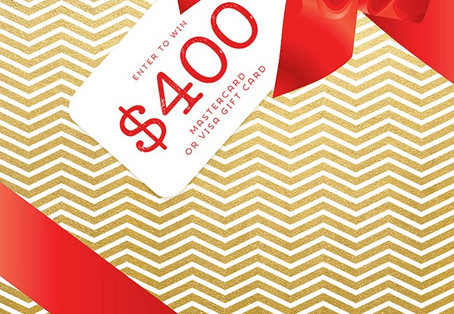 Cash for Christmas $400 Visa or Mastercard Giveaway!
