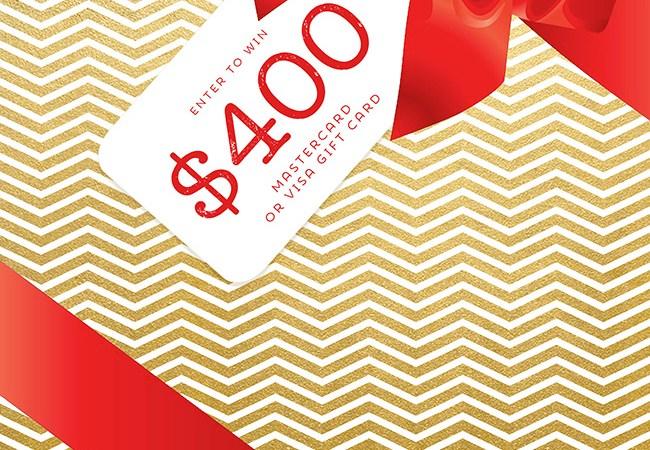 $400 Visa Card Cash for Christmas Giveaway