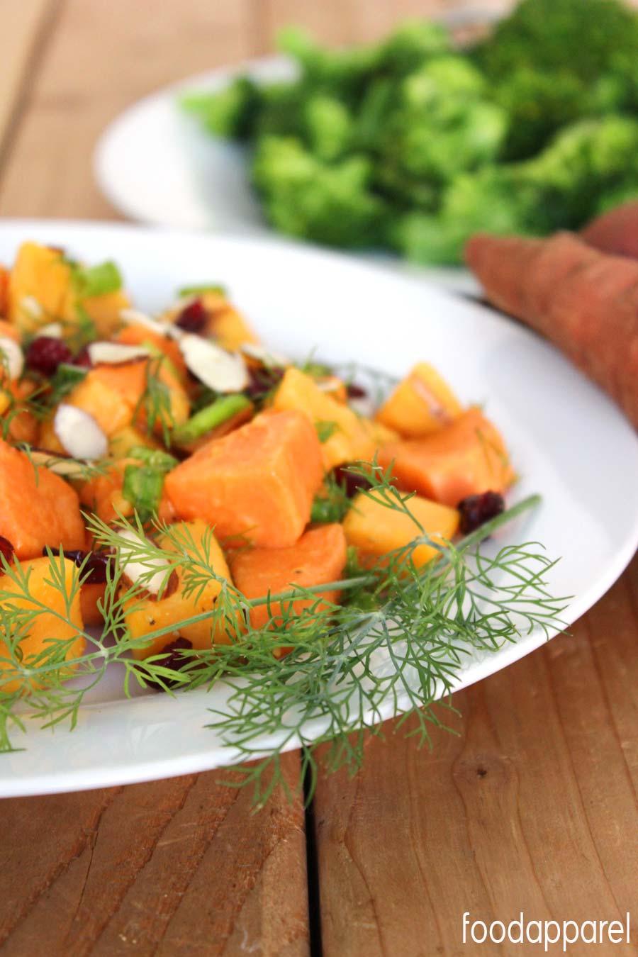 Sweet Potato Salad with Dill Vinaigrette Recipe @foodapparel