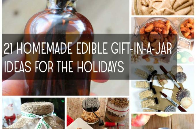 21 Homemade Edible Gift-In-A Jar Ideas for the Holidays!