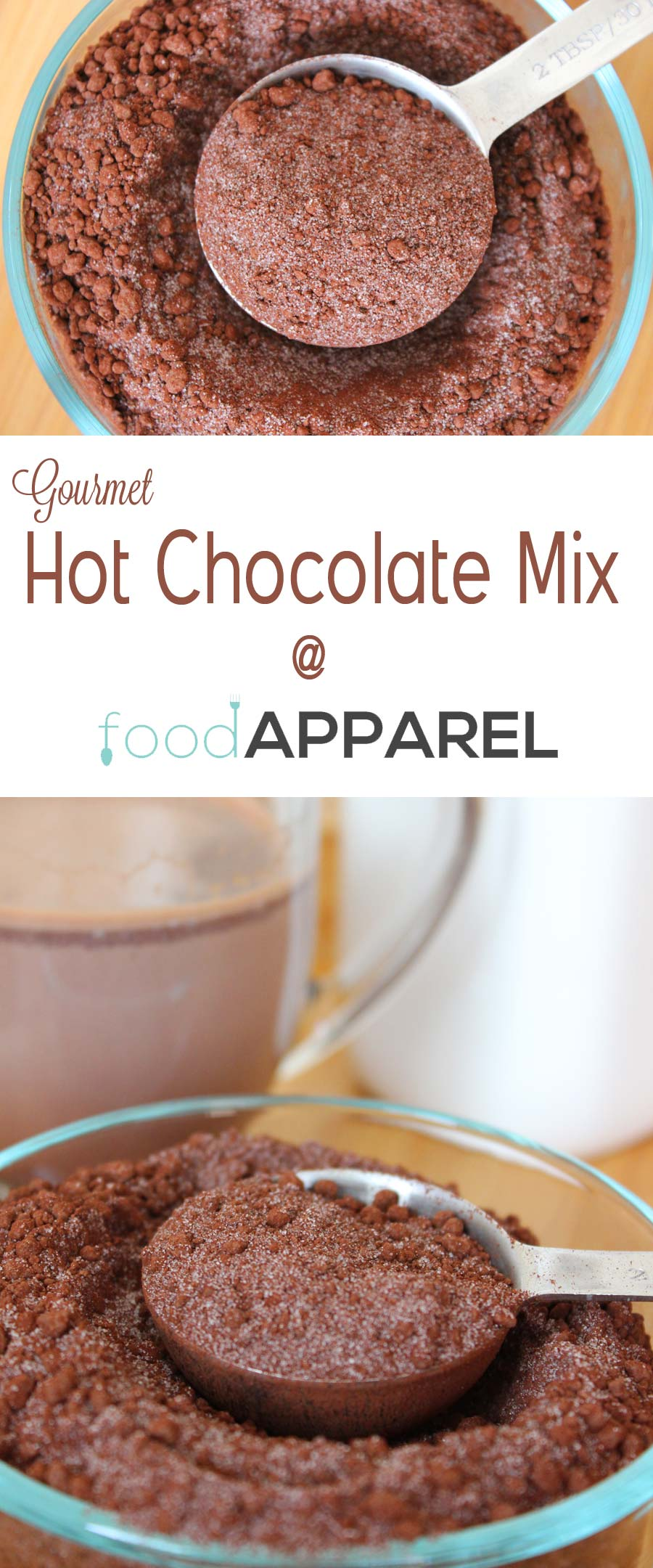 Gourmet Hot Chocolate Mix Recipe - for when you are tight on time, but still want something fabulous tasting! @foodapparel