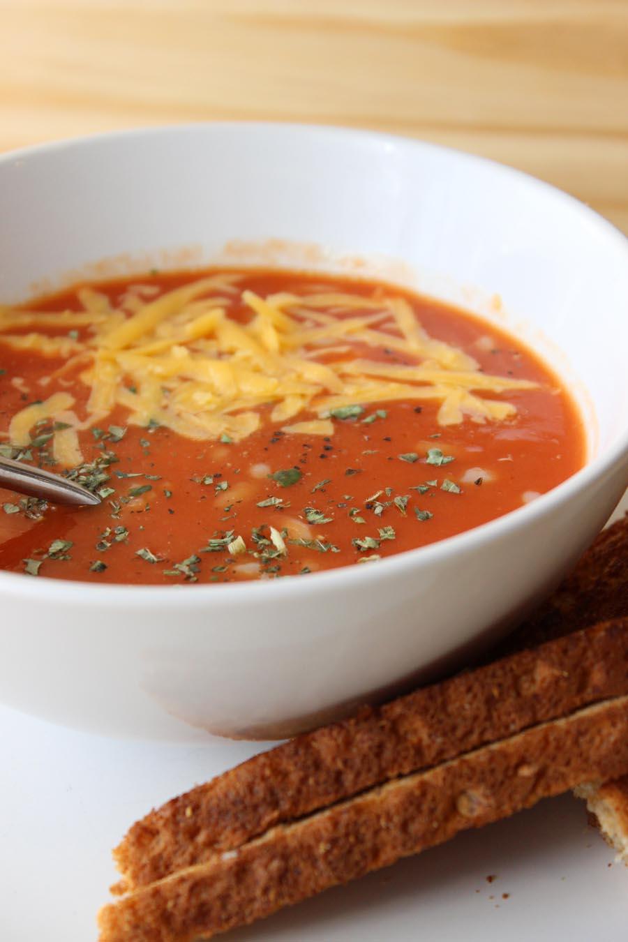 5 ways to dress up tomato soup!